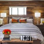 Bedspread in a room designed by los angeles interior design.